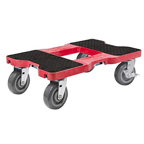 Snap-Loc 1800 Lb Super-Duty Professional E-Track Dolly Red, Safely Moves More In Less Time With Easy Rolling Casters And Optional E-Strap Safety Attachment! SL1800D6R