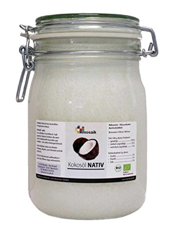 my-mosaik Bio Kokosöl nativ (1000ml Bügelglas)