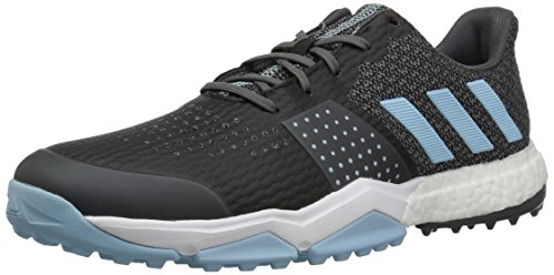 adidas Men's Adipower S Boost 3 Golf Shoe, Grey/Ice Blue/White, 9 M US