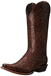 Ariat Women's Sterling Western Cowboy Boot, Cognac, 6 B US