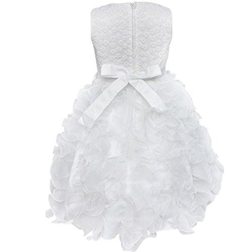 Party Dresses White Beading Pageant Princess Girls Ruffle Bodice TiaoBug Organza Flower ZvctzxxWn