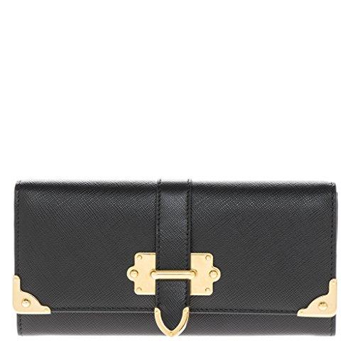 Prada Women's Leather Wallet Black
