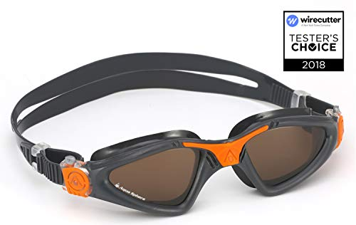 Aqua Sphere Kayenne Swim Goggles with Polarized Lens (Gray/Orange) from Aqua Sphere