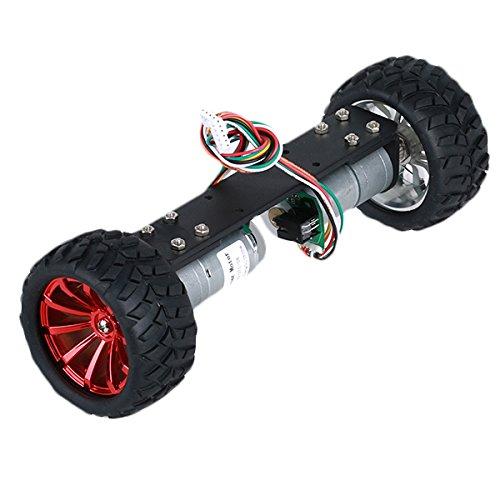 HITSAN DIY JGA25-360 12V 1.25W Two Wheel Self Balancing Smart Robot Car Metal Frame Chassis Kit One Piece by HITSAN