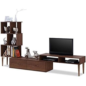 Baxton Furniture Studios Haversham Mid Century Retro Modern TV Stand  Entertainment Center And Display Unit