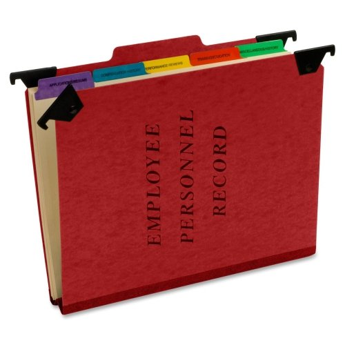 Wholesale CASE of 15 - Esselte Hanging Style Personnel Folders-Personnel Hanging Folders, 9-1/2