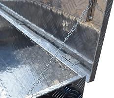 US PRO TOOLS LARGE ALUMINIUM CHEQUER JOB SITE BOX SAFE CHEST TOOL BOX VAN TRUCK