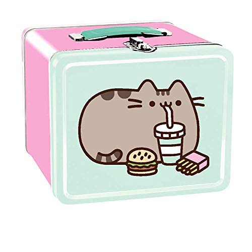 Isaac Morris Pusheen with Fast Food Large Tin Lunch Box in Pink and -