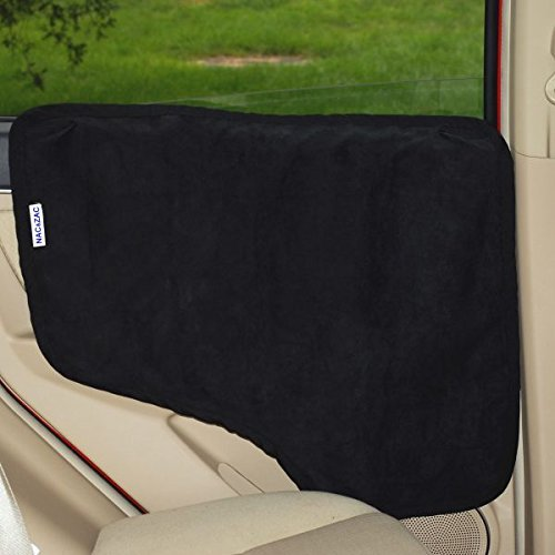 (Black) NAC & ZAC Waterproof Pet Car Door CoverTwo Options To Instal. Fit All Vehicles.