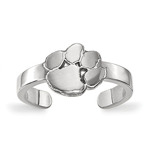 Jewelry Stores Network Clemson University Tigers Toe Ring in Sterling Silver 1.50 ()