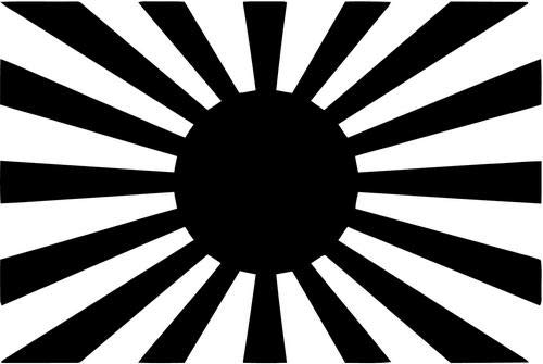 Mandy Graphics JDM Japan Rising Sun Flag Vinyl Die Cut Decal Sticker for Car Truck Motorcycle Windows Bumper Wall Home Office Decor Size- [8 inch/20 cm] Wide and Color- Gloss Black