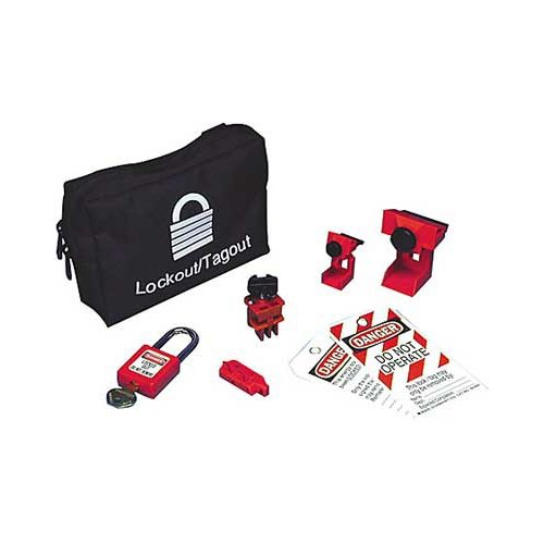 Brady 95539, Lockout Pouch Kit Without Lock, 3 Kits