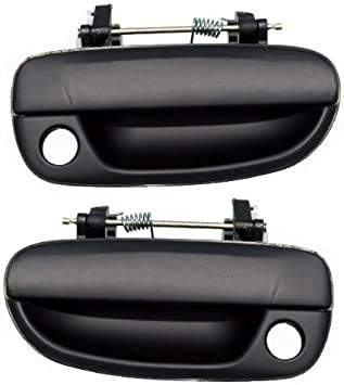 Black Rear Outside Exterior Door Handle Kit Set of 4 for 00-06 Hyundai Accent