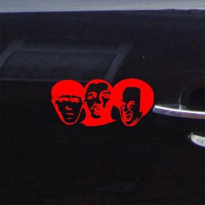 Macbook Decal Sticker Vinyl Red Bike Decor Car Wall Art Auto Wall Art Decoration Three Stooges Larry Mo Curly Heads
