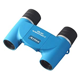 MIZAR-TEC 双眼鏡 ダハプリズム式 6倍18ミリ口径 アリエス コンパクトタイプ ポーチ付き ブルー CB-101BL