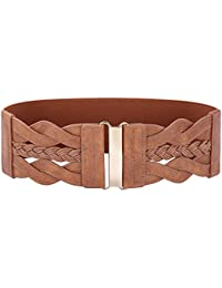 GRACE KARIN Women Plus Elastic Stretchy Retro Wide Waist Cinch Belt