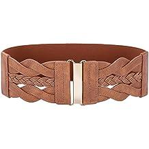 GRACE KARIN Women Plus Elastic Stretchy Retro Wide Waist Cinch Belt