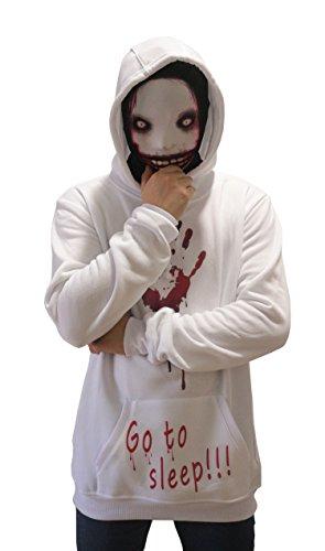 Cosplay Jeff T-Killer Hoodie Unisex Thicken Pullover Jacket Sweater Cosplay Costume (L, Jeff)