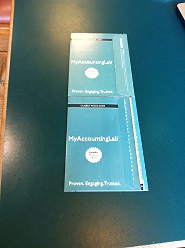 NEW MyAccountingLab with Pearson EText - Component Access Card (2-Semester Access)