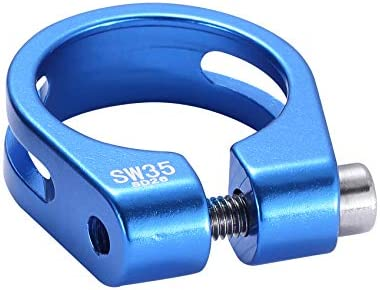 #N//A ZNMUCgs Bike Seat Clamp Aluminum Alloy Mountain Bicycle Quick Release Seat Post Clamp Cycling Accessories,blue