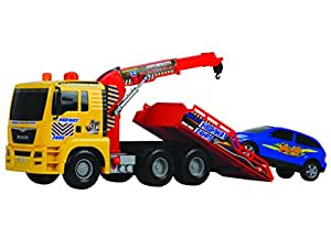 Dickie - Camión con grúa y coche de 55 cm (Simba Toys 15778)