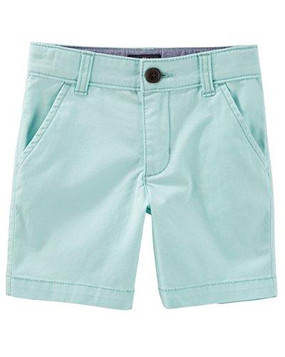 Osh Kosh Boys' Toddler Stretch Flat Front Short, Turquoise 3T - Oshkosh Boys Shorts