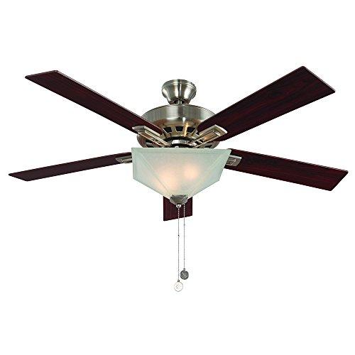 Design House 154401 Hann 52' Ceiling Fan, Satin Nickel