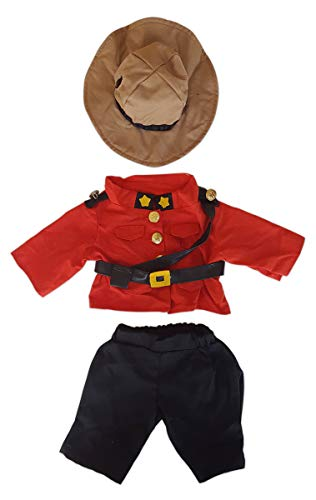 Canadian Police Officer Outfit Teddy Bear Clothes Fits