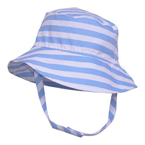 Flap Happy UPF 50+ Bucket Hat | Sailor Stripe (Microfiber) X-Large ()
