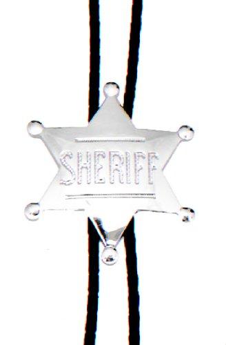 Shotgun Sheriff Costume (Sheriff Badge Bolo Tie ~ Silver-tone)