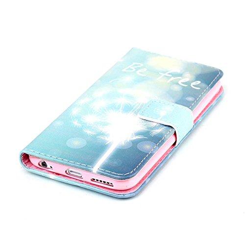 Ekakashop Apple iPhone 6/6s (4,7 Zoll) Hülle Aufklappbar Muster, Zeichnung Drucken Bunte PU Leder Schutzhülle Tasche Hüllen Magnetverschluss Handyhülle Case Flip Cover für iPhone 6s, Luxus Leder Brief