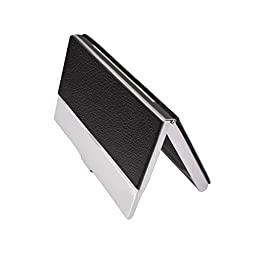 MaxGear Professional Business Card Holder Business Card Case Stainless Steel Card Holder Keep Business Cards in Immaculate Condition Clemence Black