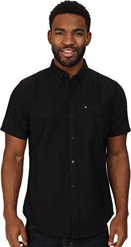 Hurley Men's Ace 2.0 Woven Short Sleeve, Black/Black, Small