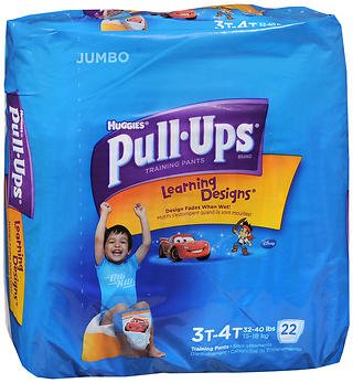 Huggies Pull-Ups Learning Designs Boys' Training Pants Size 3T-4T - 22 ct cs of 4, Pack of 5