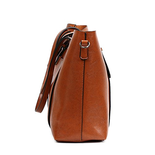 Wax Bag European Single Shoulder Tote Retro Bag Fashion Satchel Glqym Lady's Oil Handbag 8wqUaa