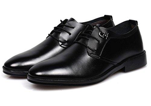 CSDM Grande promozione Uomini Casual Scarpe Uomo Cuoio Pointed Scarpe da sposa Scarpe da sposa in gomma Bottom , black , 38