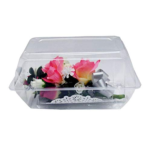 Large Corsage Flower Box Clear Prom Wedding Boutonniere Craft Container w/ Crafting eBook (9
