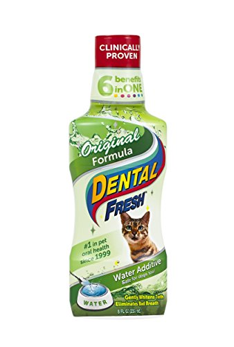 (Dental Fresh Water Additive - Original Formula for Cats - Clinically Proven, Simply Add to Cat's Water Bowl to Whiten Teeth, Eliminate Bad Breath, and Improve Oral Health (8oz. bottle))