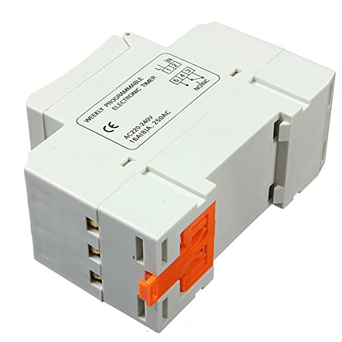 THC15A 220-240V 16A DIN Rail Digital Programmable Timer Switch (Decora Bath Fan Timer Switch compare prices)