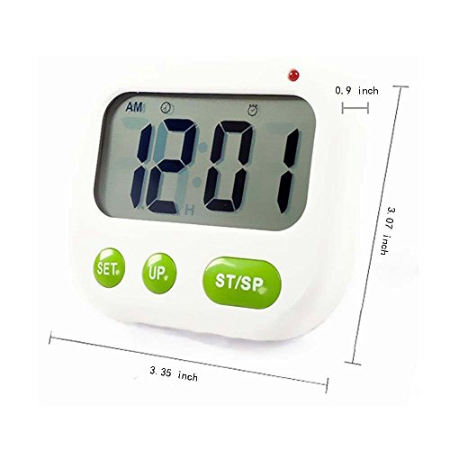 Good LRZCGB Digital Kitchen Timer With Clip Multi Function Electronic Timer  Silent Vibration Alarm Students