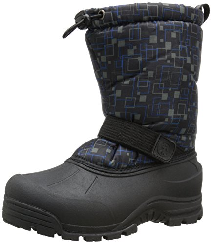(Northside Frosty Winter Boot (Toddler/Little Kid/Big Kid),Black/Blue,5 M US Big)