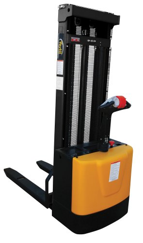 Vestil-S-118-FF-Powered-Drive-and-Powered-Lift-Stacker-with-Fixed-Forks-Over-Fixed-Support-Legs-3-38-118-Height-Range-42-14-Length-x-26-34-Width-Fork