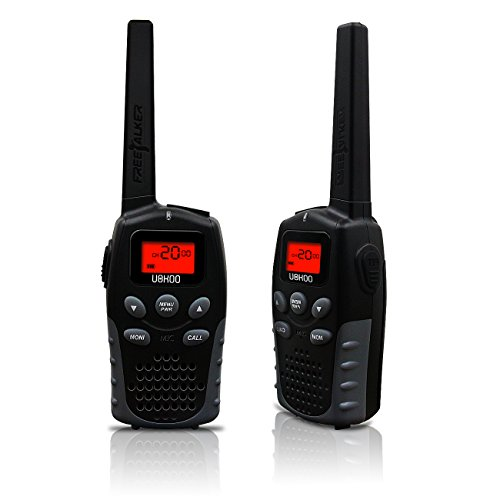 Walkie Talkies, UOKOO Two Way Radios Long Range Walkie Talkies with 22 Channel FRS/GMRS, Back-lit Display, 1 Pair Black (R7)