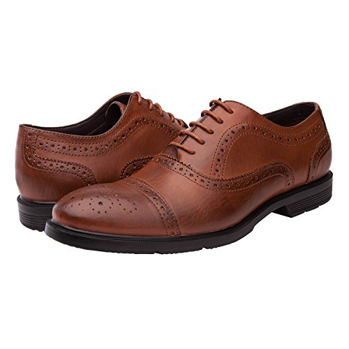 Zapatos De Vestir Oxford Con Cordones Para Hombre Global Win Globalwin Brown09