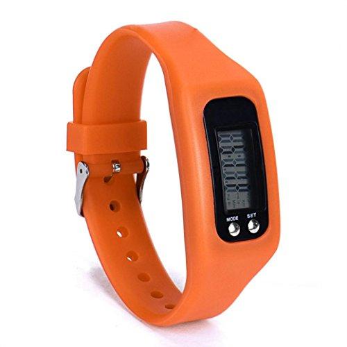 Kanzd New Sports Digital LCD pedometer Run Step Walking Distance calorie Counter Watch Bracelet (E) ()