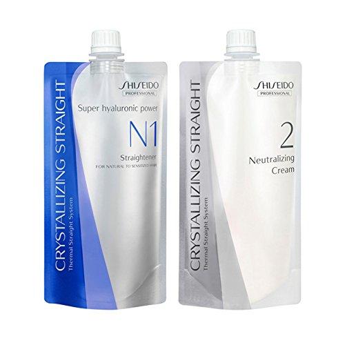 Shiseido Lisseur N1400ml + crème neutralisante 400ml pour cheveux naturels à sensibles