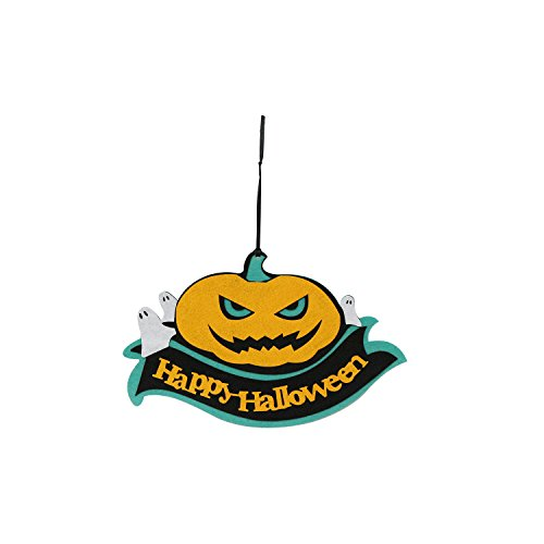 Indoor and Outdoor Fabric Fall Happy Halloween Hanging Door Decorations and Wall Signs, Perfect For Haunted House ,Home,Yard, School, Bar Decor - Halloween Theme Party Decorations