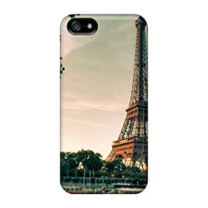 Durable Defender Case For Iphone 5/5s Tpu Cover(eiffel Tower In Autumn)