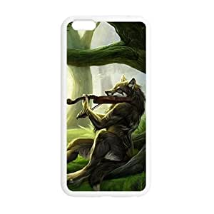 Artistic wolf with guitar Case Cover For Apple Iphone 6 Plus 5.5 Inch