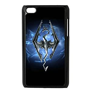 Skyrim for Ipod Touch 4 Cell Phone Case & Custom Phone Case Cover R42A651543